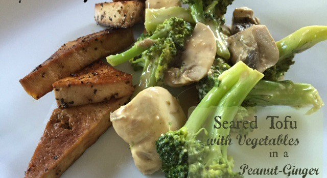 Seared Tofu with Vegetables in a Peanut-Ginger Sauce