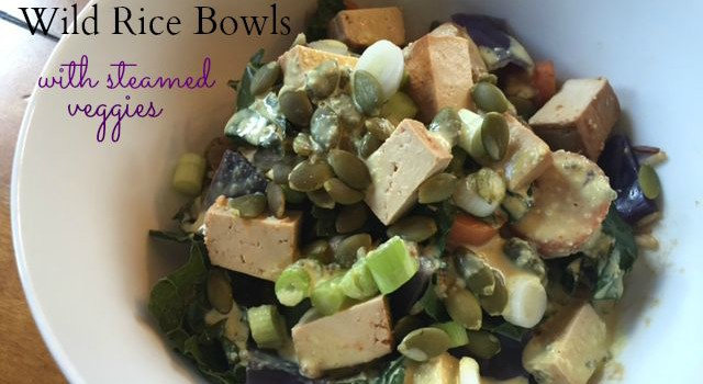 Lentil & Wild Rice Bowls with Steamed Veggies