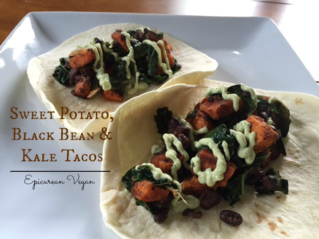 Sweet Potato, Black Bean and Kale Tacos -- Epicurean Vegan
