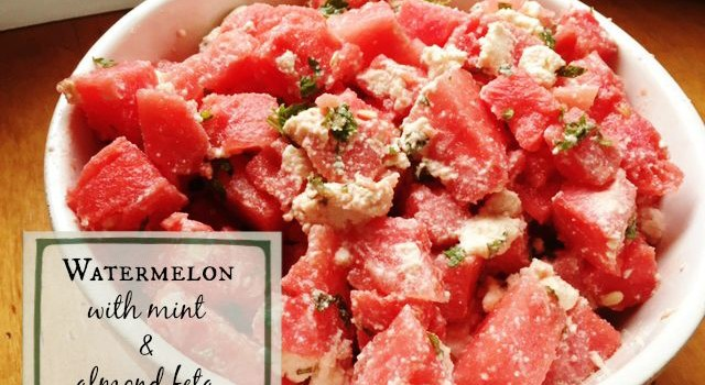 Watermelon with Mint & Almond Feta