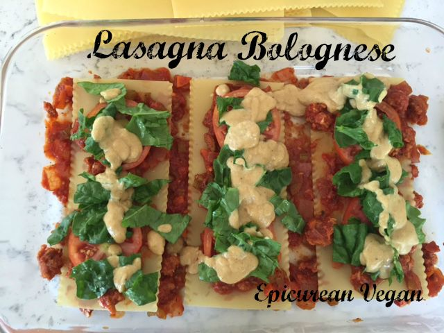 Lasagna Bolognese -- Epicurean Vegan