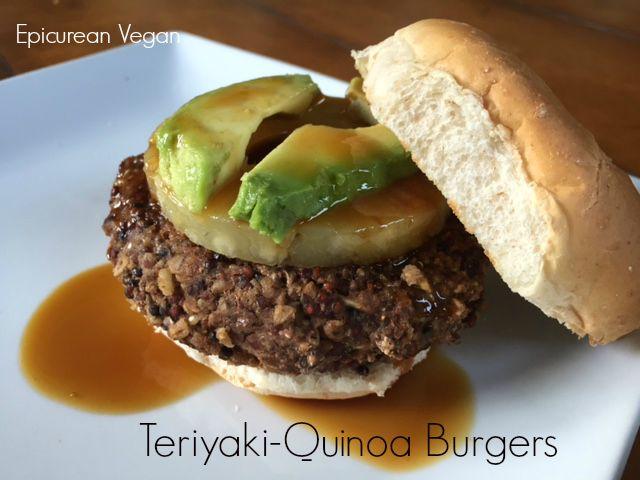 Teriyaki-Quinoa Burgers -- Epicurean Vegan
