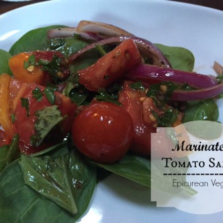 Marinated Tomato Salad -- Epicurean Vegan
