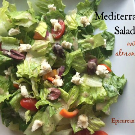 Mediterranean Salad with Almond Feta -- Epicurean Vegan