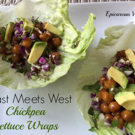 East Meets West Chickpea Lettuce Wraps -- Epicurean Vegan