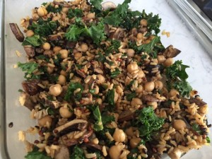 Rice Bowls with Kale, Mushrooms, and Chickpeas -- Epicurean Vegan
