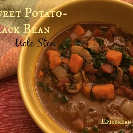 Sweet Potato-Black Bean Mole Soup -- Epicurean Vegan