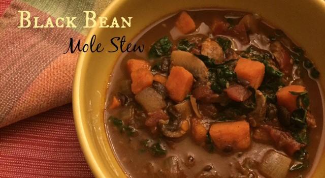 Sweet Potato-Black Bean Mole Stew