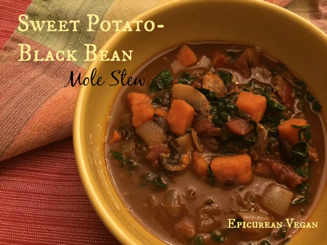 Sweet Potato-Black Bean Mole Soup -- Epicurean Vegan