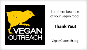 Vegan Outreach restaurant cards