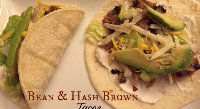 Bean & Hash Brown Tacos