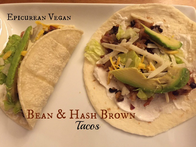 Bean and Hash Brown Tacos -- Epicurean Vegan