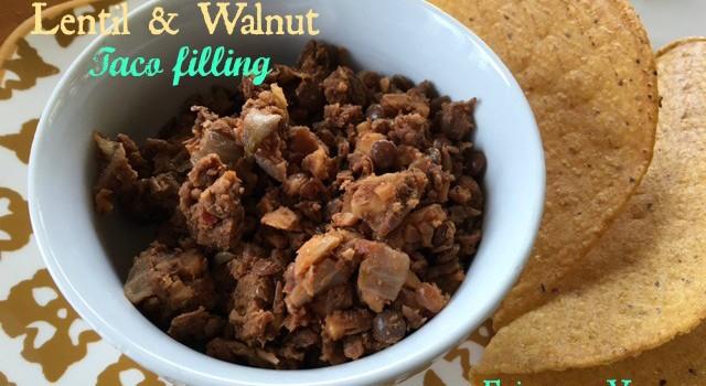 Chipotle Lentil & Walnut Taco Filling