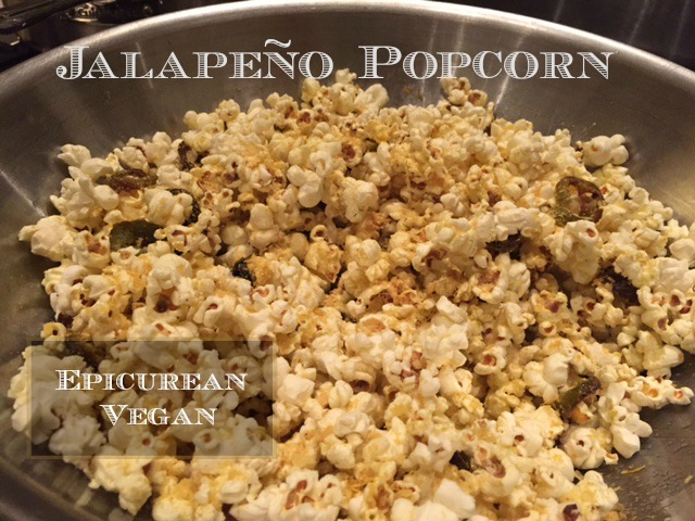 Jalapeno Popcorn -- Epicurean Vegan