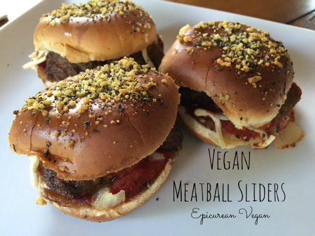 Vegan Meatball Sliders -- Epicurean Vegan