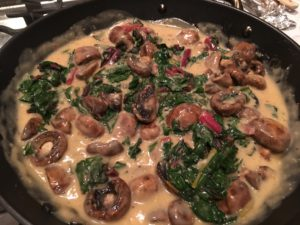 Mushroom and Chard Stroganoff -- Epicurean Vegan