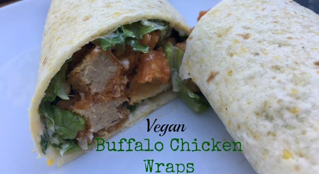 Vegan Buffalo Chicken Wraps