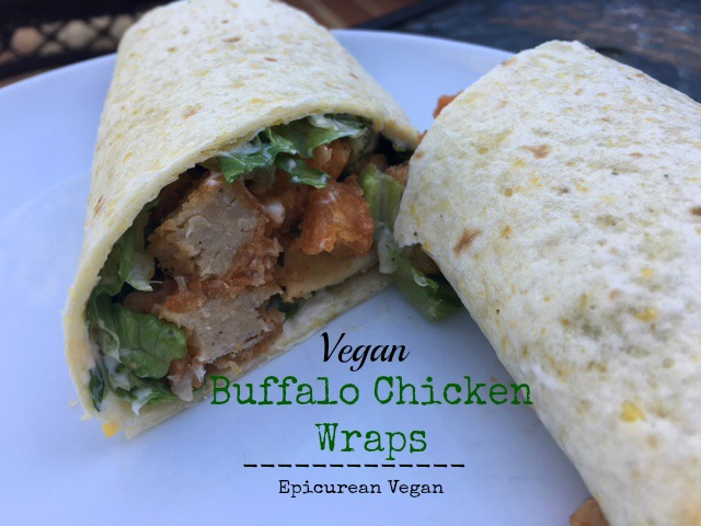 Vegan Buffalo Chicken Wraps -- Epicurean Vegan