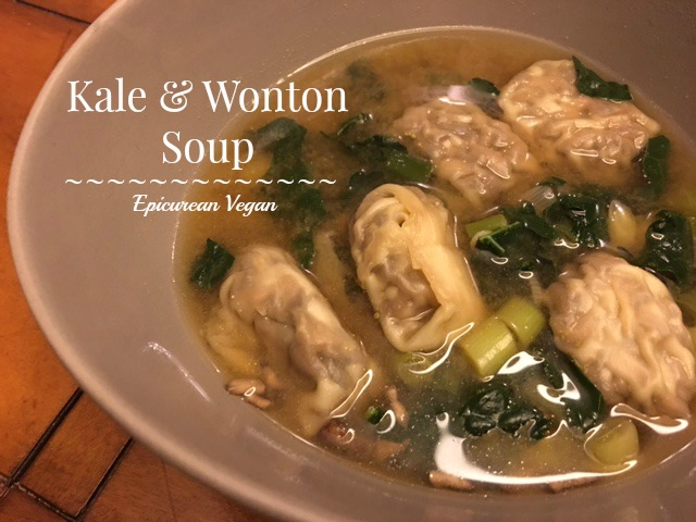 Kale and Wonton Soup -- Epicurean Vegan