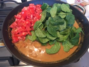Potato Curry with Spinach and Tomato -- Epicurean Vegan