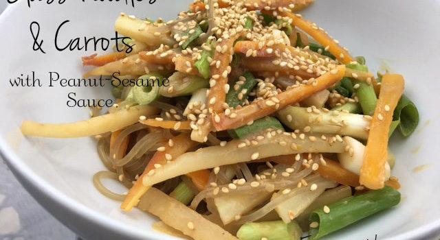 Glass Noodles & Carrots with Peanut-Sesame Sauce