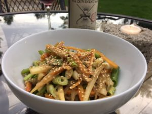 Glass Noodles and Carrots with Peanut-Sesame Sauce -- Epicurean Vegan