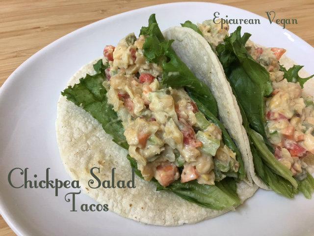 Chickpea Salad Tacos -- Epicurean Vegan