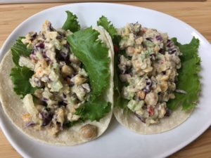 Chickpea Salad Tacos -- Epicurean Vegan