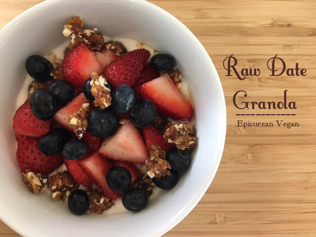 Raw Date Granola - Epicurean Vegan