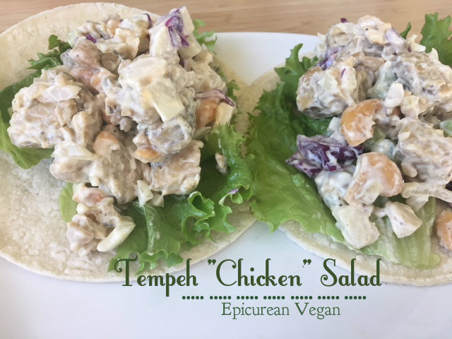 "Tempeh ""Chicken"" Salad -- Epicurean Vegan"